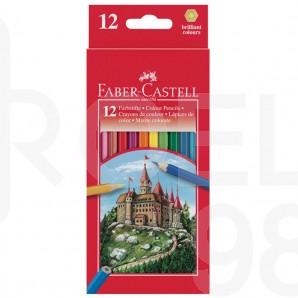 Моливи Faber-Castell Замък, 12 цвята