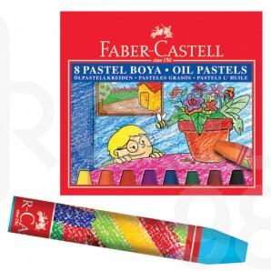 Маслени пастели Faber-Castell, 8 цвята