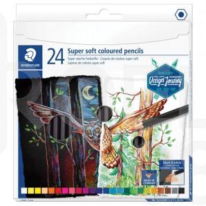 Цветни моливи Design Journey Super Soft 149, 24 цвята