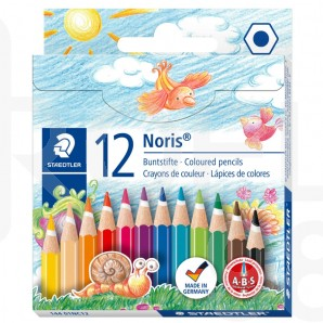 Цветни моливи Noris Club 144, 12 цвята къси, картонена кутия