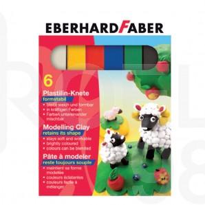Пластелин Faber-Castell, 6 цвята