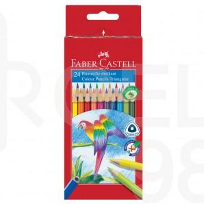 Моливи Faber-Castell, triangular, 24 цвята