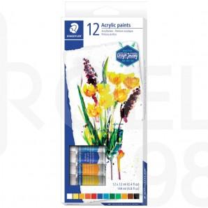 Акрилни бои Design Journey 8500, 12 цвята