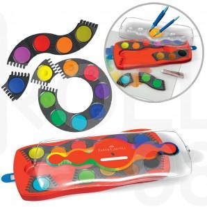 Акварелни бои Faber-Castell Connector, 12 цвята