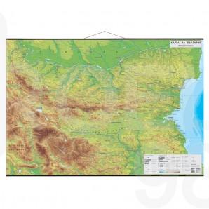 Природогеографска карта на България 1 : 270 000
