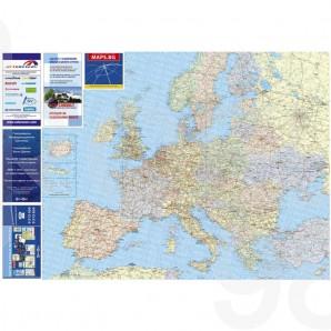 Ptna Karta Na Evropa Laminirana 1 5 000 000 Roel 98
