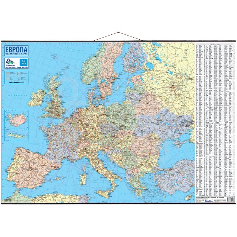 Stenna Politicheska Karta Na Evropa Onlajn Knizharnica Ramita