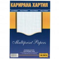 Карирана хартия,вестникарска, A4, 100 л.