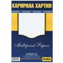 Карирана  хартия,вестникарска, A4, 250 л.