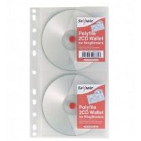 Папка джоб Snopake за 2 CD с перфорация за класьор