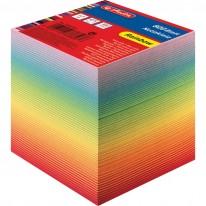 Кубче Herlitz, подлепено, 800 л., Rainbow, в целофанова опаковка