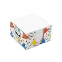 Кубче бяло Lizy Colection, 90 x 90 мм, в картонена поставка