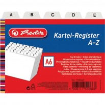 Регистър Herlitz, A-Z, за визитки/картички, А6