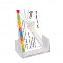 Поставка за визитки, Вертикална, пластмаса
