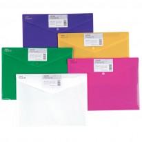 Папка с копче Snopake, A4, плътна, неонови цветове