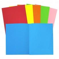 Папка, картонена, с лепен джоб