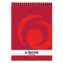 Блокнот Herlitz x.book, А5, квадратчета, 50 л.