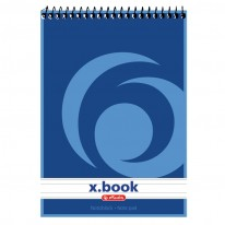 Бележник Herlitz x.book, А6, редове, спирала, 50 л.