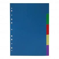 Разделител PVC с европерфорация, 5 цвята