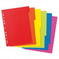 Разделители Herlitz c eвроперфорация, картон, 10 цвята