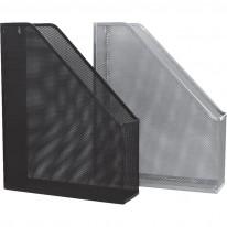 Вертикална поставка Ark, метална мрежа, сребро