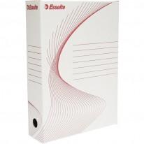 Архивна кутия Esselte, бяла, 80 мм гръб