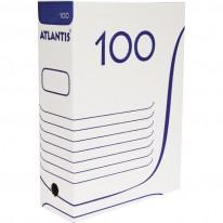 Архивна кутия Atlantis, бяла, 100 мм гръб