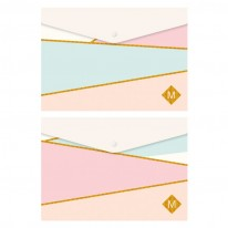 Папка с копче, A4, PP, Pastel Gold