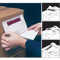 Плик-джоб, 118х98мм., прозрачно лице и хартиен гръб
