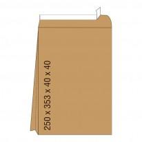 Кафяв плик с дъно, СЗЛ, B4, 250 х 353 х 40 х 40 мм