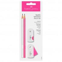 Комплект Sparkle 2 молива + гума + острилка