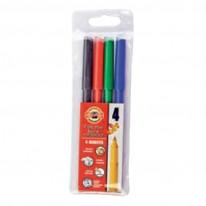 Комплект флумастери Koh-i-Noor, 4 цвята