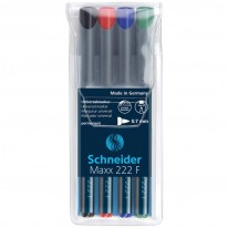 Комплект Schneider перманентни маркери OHP 222F, 4 цв.
