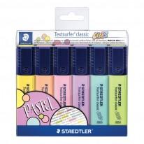 Комплект текстмаркери Staedtler 364, 6 пастелни цвята