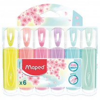 Текстмаркер Maped Fluo Peps Pastel, 6 цвята