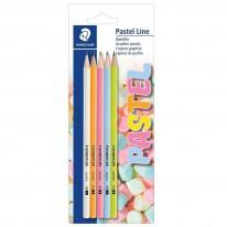 Молив Staedtler Pastel Line, HB, 5 броя, блистер