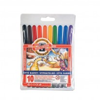 Комплект флумастери Koh-i-Noor, 10 цвята