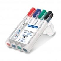 Комплект маркери за бяла дъска Staedtler 351, 4 цвята