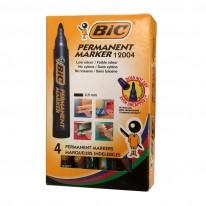 Комплект BIC перманентни маркери 2000, 4 цв.