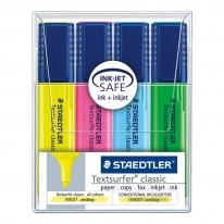 Комплект текстмаркери Staedtler 364, 4 цвята