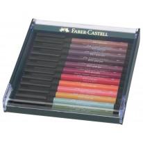 Faber-Castell Маркер-четка Pitt Artist Pen, Earth, 12 цвята