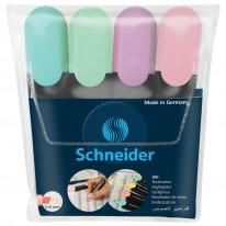 Текстмаркер Schneider Job Pastel, 4 цвята