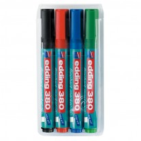 Комплект маркери за флипчарт Edding 380, 4 цвята