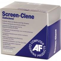 Навлажнени кърпички AF SCS100, за екрани, 1 бр