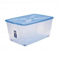 Кутия за съхранение с капак и колела, 45 литра