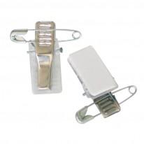 Щипка с игла за бадж Mapi, метална, със самозалепващ стикер