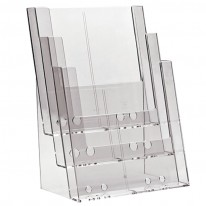 Поставка за брошури 3C230, A4, вертикална, 230х32 мм, с 3 отделения