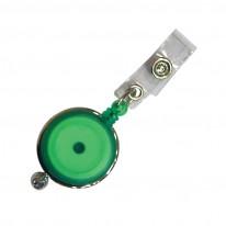 Ролетка за бадж Mapi, с копче, кръгла