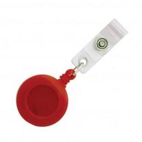 Ролетка за бадж Mapi, с копче и метална щипка, кръгла