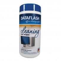 Почистващи кърпи Data Flash за пластмасови повърхности, в PVC кутия